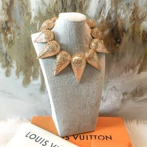 Louis Vuitton Parure Patel Etched Gold Necklace